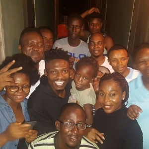 BBNaija: Efe Pays A Surprise Visit To His Former Neighbours In Lagos (Photos)